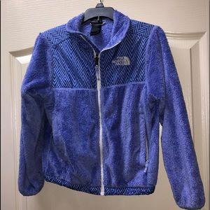 North face girls jacket purple size 7/8